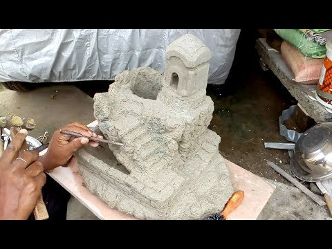 How to make Tree pot like ancient Temple