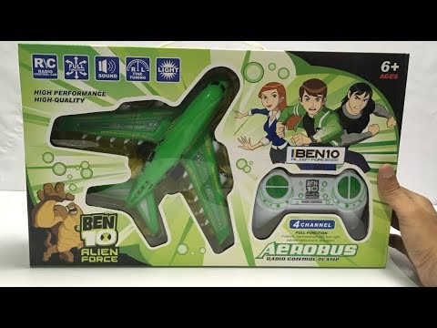 Ben 10 Alien Force Remote Control Plane | UNBOXING & TESTING