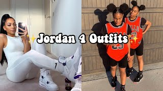 ✨Jordan 4 Outfits-HOW TO STYLE JORDAN 4s  BADDIE OUTFIT COMPILATION PART 6✨