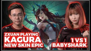 Zxuan playing 1 on 1 against Babyshark with Kagura?!! (Bahasa Red = Babyshark | Black = Zxuan)