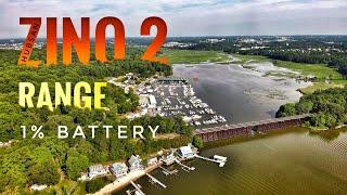 Hubsan Zino 2 Range Flight - 1st Sign of Smart Battery with Low IQ.