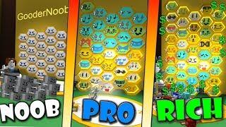 NOOB vs PRO vs RICH - Roblox Bee swarm simulator
