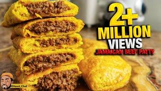 HOW TO MAKE JAMAICAN BEEF PATTIES   Meat Pie   Street Food   Jamaican Beef Patty Recipe    Hawt Chef