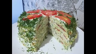 ОЧЕНЬ  ВКУСНЫЙ КАБАЧКОВЫЙ ТОРТ!!! Закусочный торт!