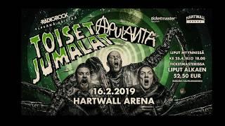 """Apulanta -"""" Toiset jumalat"""" Hartwall Arenalla 16.2.2019!!"""
