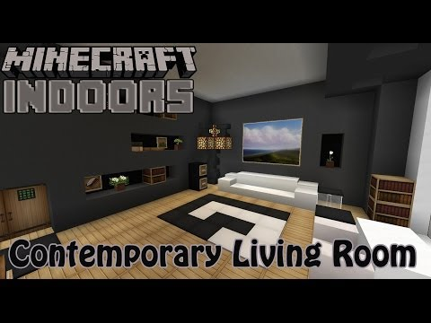 Modern Living Room Minecraft Interior Design Part 32