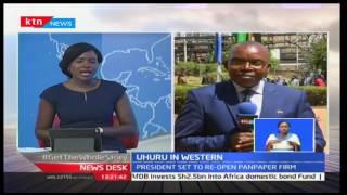 News Desk: President Uhuru Kenyatta starts a two-day tour of the western region for official duties