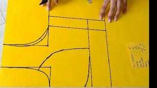 "कटोरी ब्लाउज कटिंग|34"" size katori blouse perfect paper cutting|simple method of katori blouse"