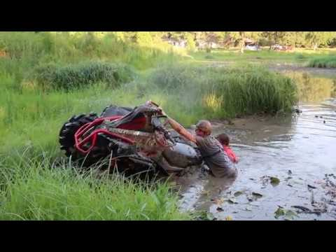 xmr 1000rr Can-Am DESTROYED in POND!!! (nitrous, ported heads and 1180cc cylinders soon)