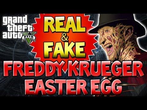 """GTA 5 - """"FREDDY KRUEGER"""" Easter Egg """"REAL & FAKE"""" GTA V Serial Killer ..."""