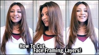 How To Cut Face Framing Layers At Home! │ DIY Long Layered Haircut │ Cut Your Own Hair TUTORIAL!