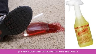 Easy & quick way to remove red stains from carpet