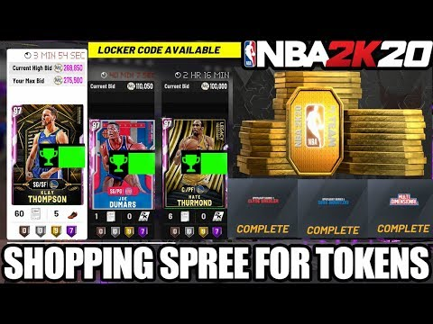 I WENT ON A SHOPPING SPREE FOR TOKENS + LOCKER CODE AND MY FINAL GALAXY OPAL IN NBA 2K20 MYTEAM