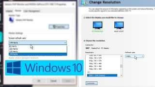 How To Change Your Monitor's Refresh Rate (60hz, 144hz, etc.)
