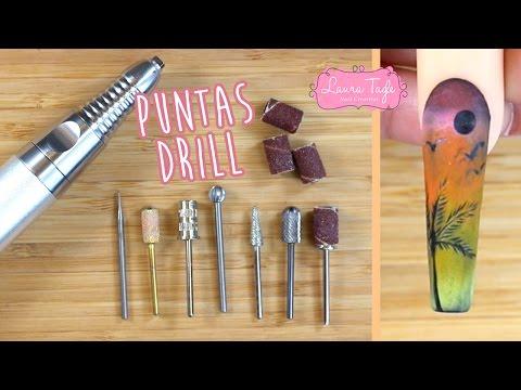 Tipos de puntas para Drill de uñas  (máquina pulidora)