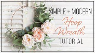 Easy Spring Hoop Wreath DIY - How To Make A Wreath
