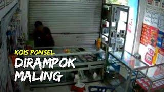 Komplotan Maling Terekam CCTV saat Bobol Kios Ponsel dan Curi Uang Rp21 Juta