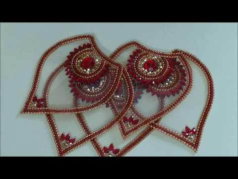 kundan rangoli turorial by anukirti crafts