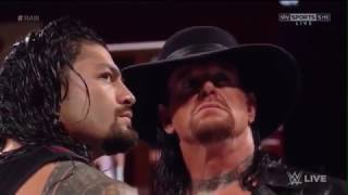 The Undertaker Returns and Confronts Braun Strowman and Roman Reigns WWE Raw 3 6 17