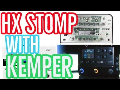 HX STOMP + KEMPER + Two Notes Cab + KPA Midi Editor + HX EDIT