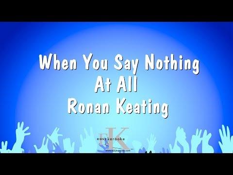 When You Say Nothing At All - Ronan Keating (Karaoke Version)