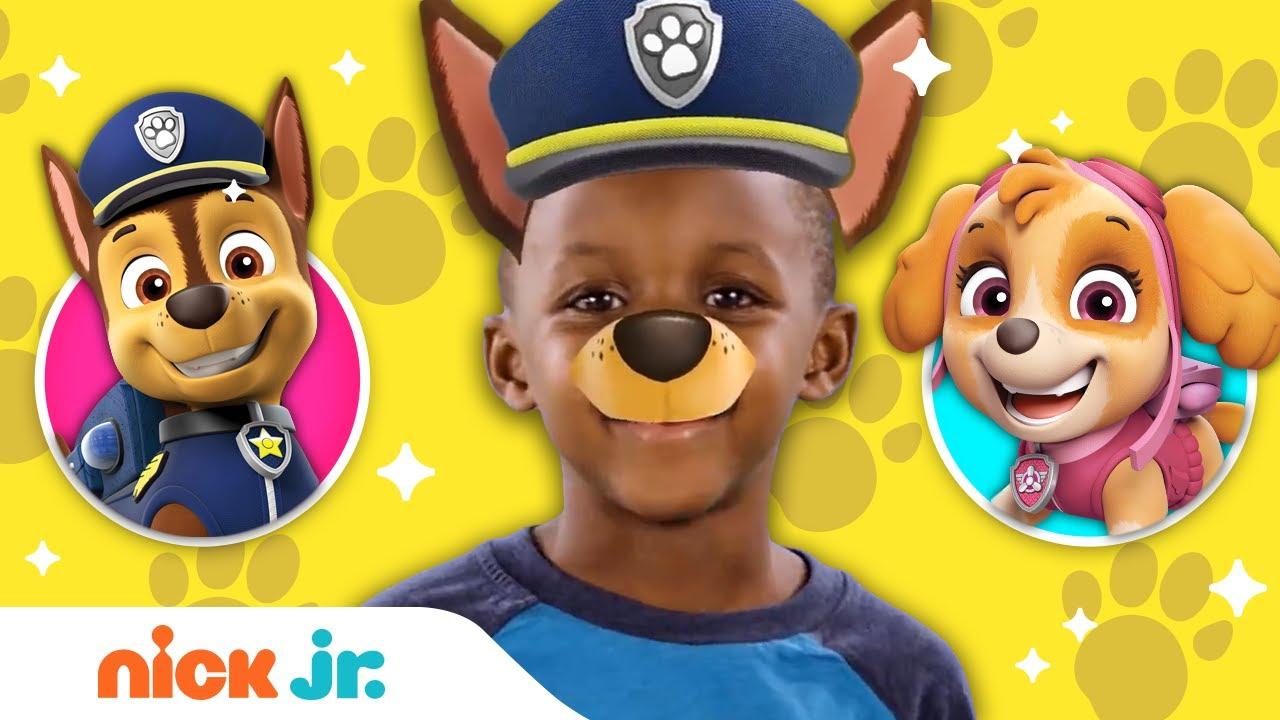 PAW Patrol Junior Dress Up w/ Marshall, Chase, Skye, Rubble, Tracker & Everest 🐾 Ep. 2 | Nick Jr. Screenshot Download