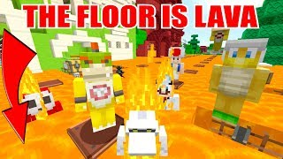 Minecraft Switch - Nintendo Fun House  - THE FLOOR IS LAVA! [WHO DIES?!] [113]