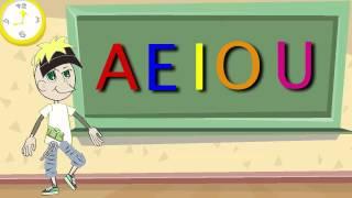 La Canción de las Vocales - A E I O U - Educación Infantil - Pre-escolar -Lunacreciente