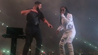 Drake and MIgos Walk It Talk It Live Toronto Scotiabank Arena Aubrey and the Three Migos