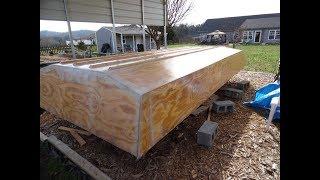 Building a 20 ft. trailerable Houseboat Part - 1