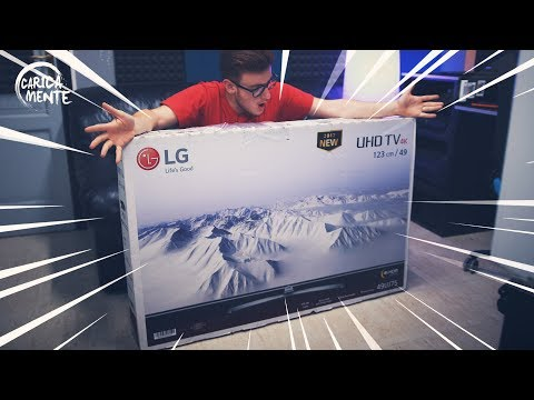 UNBOXING LG 4K UHD HDR 49UJ750V TV - CARICAMENTE ITA 4K