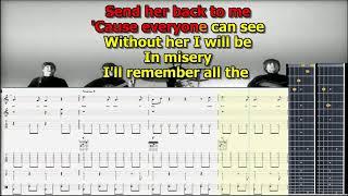 Misery Beatles best karaoke instrumental score tabs lyrics chords