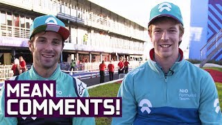 NIO Drivers React to Mean Comments!   Burning Up   ABB Formula E