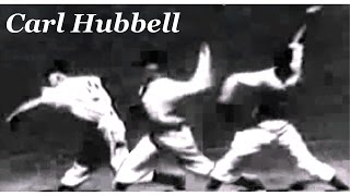 Carl Hubbell Bend And Bow Curvilinearly & Scratch Horizontally Pitching Mechanics Slow Motion