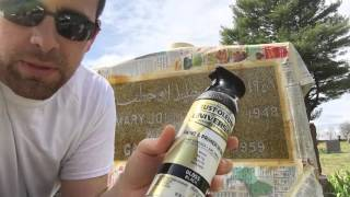 Painting Headstone Lettering