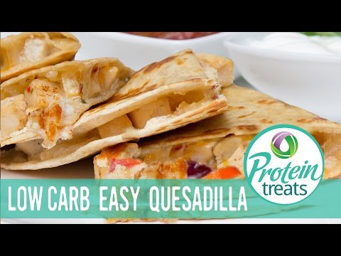 Video Healthy Chicken Quesadilla Recipe (High-protein, Low-carb) Protein Treats by Nutracelle