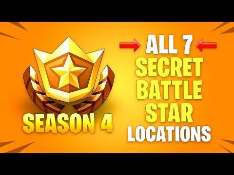 ALL 7 Secret Battle Star Locations - Fortnite Season 4 Challenges mp3