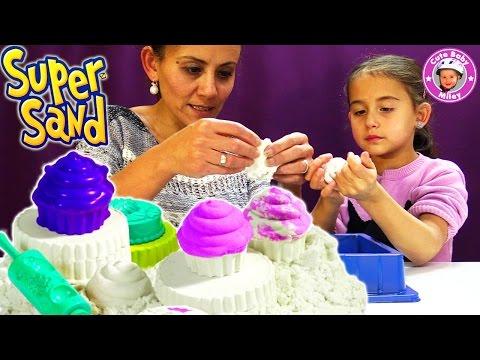 Wir backen Cupcakes mit Super Sand dem Indoor Spielsand - Kanal für Kinder