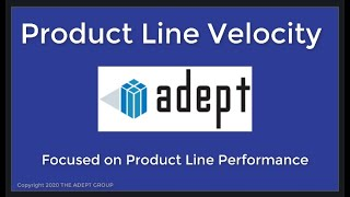 Product Line Flow and Maximizing its Velocity
