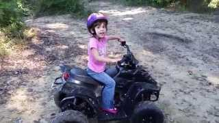 My 4 Year Old Daughters First Real 4 Wheeler Ride