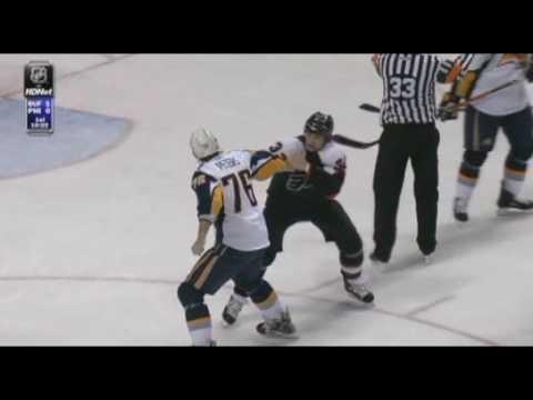 Riley Cote vs. Andrew Peters