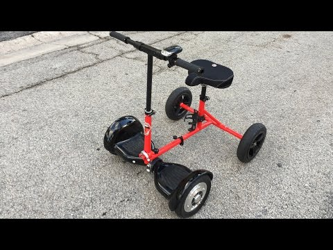 HoverBike - New Transportation Solution Using HoverBoard - Patent Pending.