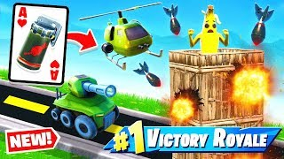 *NEW* AIR STRIKE War CARD GAME Mode in Fortnite Battle Royale