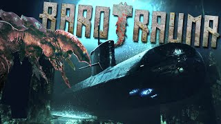 Giant Deep Sea Monsters Attack Our Submarine In Unknown Waters - Barotrauma Gameplay