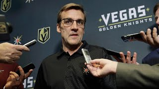 Golden Knights' McPhee explains why the team went for draft picks