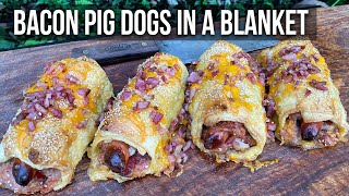 Bacon Pig Dogs in a Blanket recipe
