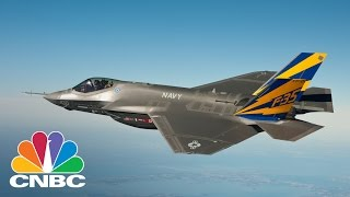 LOCKHEED MARTIN Lockheed Martin F-35 Factory Utilizing Robots And Automation To Lower Costs | Squawk Box | CNBC