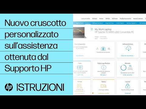 Esperienza personalizzata di supporto con l'applicazione dall'assistenza HP