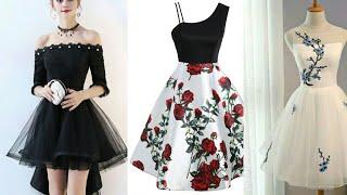 Styles 2019 Floral Print A Line Midi Dress Ideas || Beautiful A Line Short Midi Dresses Collection