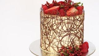 Chocolate Border Cake Tutorial- Rosies Dessert Spot